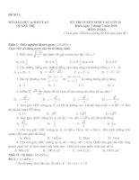Bài giảng 21 ( Đề-đáp án ) môn Toán thi vào lớp 10
