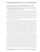 THỰC TRẠNG CÔNG TÁC THU BHXH BẮT BUỘC TẠI BHXH HUYỆN HIỆP HÒA, TỈNH BẮC GIANG GIAI ĐOẠN 2007 - 2010