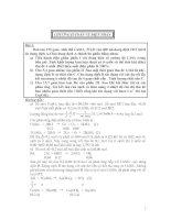 Bài soạn Chuyên đề điện phân