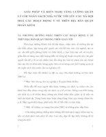 GIẢI PHÁP VÀ KIẾN NGHỊ TĂNG CƯỜNG QUẢN LÝ CHI NGÂN SÁCH NHÀ NƯỚC VỚI YÊU CẦU XÃ HỘI HOÁ CÁC HOẠT ĐỘNG Y TẾ TRÊN ĐỊA BÀN QUẬN HOÀN KIẾM