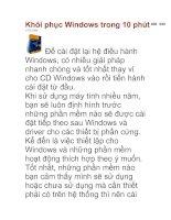 Khôi phục Windows trong 10 phút