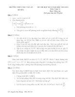 Bài giảng Đề kiểm tra toán lớp 11 - kỳ I - Chu Văn An