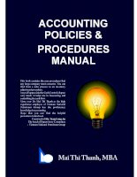 Accounting policies and procedures