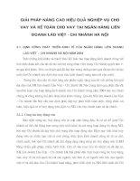 GIẢI PHÁP NÂNG CAO HIỆU QUẢ NGHIỆP VỤ CHO VAY VÀ KẾ TOÁN CHO VAY TẠI NGÂN HÀNG LIÊN DOANH LÀO VIỆT - CHI NHÁNH HÀ NỘI