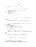 Bài soạn 12 đề thi thử môn toán