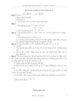 Đề cương ôn thi mon toán lên lớp 10