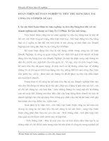 HOÀN THIỆN KẾ TOÁN NGHIỆP VỤ TIÊU THỤ HÀNG HOÁ TẠI CÔNG TY CỔ PHẦN TỨ GIA