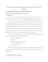TỔNG QUAN VỀ HOẠT ĐỘNG TỰ DOANH CỦA CÔNG TY CHỨNG KHOÁN