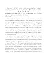 MỘT SỐ Ý KIẾN ĐỀ XUẤT NHẰM HOÀN THIỆN KẾ TOÁN BÁN HÀNG VÀ XÁC ĐỊNH KẾT QUẢ BÁN HÀNG TẠI CÔNG TY CỔ PHẦN THIẾT BỊ PHỤ TÙNG HÀ NỘI