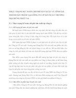 THỰC TRẠNG KẾ TOÁN CHI PHÍ SẢN XUẤT VÀ TÍNH GIÁ THÀNH SẢN PHẨM TẠI CÔNG TY CP SẢN XUẤT THƯƠNG MẠI HƯNG PHÁT NA