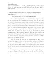 MỘT SỐ GIẢI PHÁP VÀ KIẾN NGHỊ NHẰM TĂNG CƯỜNG HUY ĐỘNG VỐN TẠI CHI NHÁNH NGÂN HÀNG ĐẦU TƯ VÀ PHÁT TRIỂN - BẮC HÀ NỘI