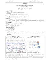 Bài 2: Căn lề