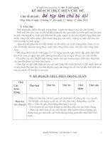 Bài soạn( nhánh bé tập làm chú bộ đội)