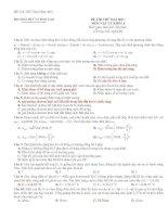 Bài soạn Đề&đáp án thi thử lý 2011 (số 1)