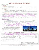 Gián án Bài 2: Phương Trình Mặt Phẳng