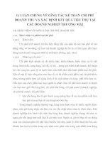 Lí LUẬN CHUNG VỀ CễNG TÁC KẾ TOÁN CHI PHÍ DOANH THU VÀ XÁC ĐỊNH KẾT QUẢ TIấU THỤ TẠI CÁC DOANH NGHIỆP THƯƠNG MẠI