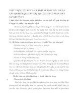 THỰC TRẠNG TỔ CHỨC HẠCH TOÁN KẾ TOÁN TIÊU THỤ VÀ XÁC ĐỊNH KẾT QUẢ TIÊU THỤ TẠI CÔNG TY CỔ PHẦN THUỶ SẢN KHU VỰC I