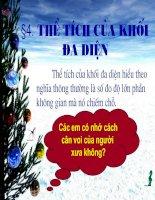 Bài soạn Tiết 09 - the tich khoi da dien-HH 12 NC