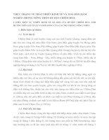 THỰC TRẠNG VỀ PHÁT TRIỂN KINH TẾ VÀ XOÁ ĐÓI GIẢM NGHÈO TRONG NÔNG THÔN HUYỆN CHIÊM HOÁ