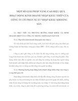 MỘT SỐ GIẢI PHÁP NÂNG CAO HIỆU QUẢ HOẠT ĐỘNG KINH DOANH NHẬP KHẨU THÉP CỦA CÔNG TY CỔ PHẦN XUẤT NHẬP KHẨU KHOÁNG SẢN