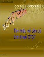Tìm hiểu về căn cứ tính thuế GTGT