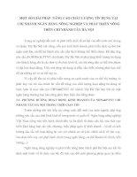 MỘT SỐ GIẢI PHÁP  NÂNG CAO CHẤT LƯỢNG TÍN DỤNG TẠI CHI NHÁNH NGÂN HÀNG NÔNG NGHIỆP VÀ PHÁT TRIỂN NÔNG THÔN CHI NHÁNH TÂY HÀ NỘI