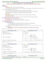 Giáo án ôn thi Đại Số & Giải tích 11 cơ bản HKI