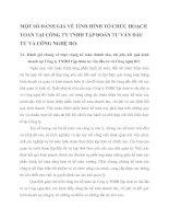 MỘT SỐ ĐÁNH GIÁ VỀ TÌNH HÌNH TỔ CHỨC HOẠCH TOÁN TẠI CÔNG TY TNHH TẬP ĐOÀN TƯ VẤN ĐẦU TƯ VÀ CÔNG NGHỆ RO