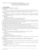 Đề cương ôn tập môn Ngữ văn 9 (HK1)