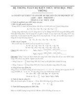 Bài soạn He thong toan bo kien thuc Sinh 12( Hay)