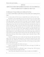 Thực trạng kiểm toán thuế trong kiểm toán báo cáo tài chính tại công ty kiểm toán và định giá Việt Nam.