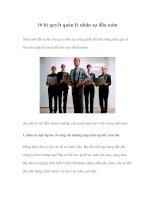 10 bí quyết quản lý nhân sự đầu năm