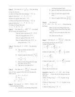 Bài soạn 500 câu hỏi trắc nghiệm môn Toán