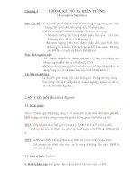 Tài liệu Chương 4 Thống Kê Mô Tả Hiện Tượng