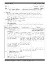 Giáo án tin học 8 - 3 cột mới