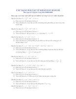 Bài tập hay về khảo sát hàm số