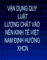 Phần III_ Vận dụng quy luật lượng chất vào nền kinh tế Việt nam định hướng XHCN