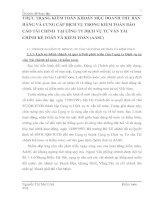 THỰC TRẠNG KIỂM TOÁN KHOẢN MỤC DOANH THU BÁN HÀNG VÀ CUNG CẤP DỊCH VỤ TRONG KIỂM TOÁN BÁO CÁO TÀI CHÍNH  TẠI CễNG TY DỊCH VỤ TƯ VẤN TÀI CHÍNH KẾ TOÁN VÀ KIỂM TOÁN