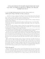 85657LÝ LUẬN CHUNG VỀ TỔ CHỨC HẠCH TOÁN KẾ TOÁN VẬT LIỆU VÀ CÔNG CỤ DỤNG CỤ TRONG CÁC DOANH NGHIỆP SẢN XUẤT
