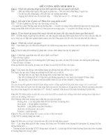 Đề cương ôn tập môn Sinh học 8 (HK1)