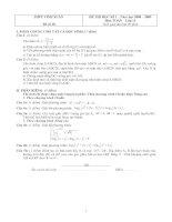 Tài liệu Kiểm tra Học kì 1 - Toán 12 - đề số 10