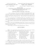 Bài giảng Số 11/QĐ- PGDĐT ngày 17/1/1011 V/v  thành lập ban tổ chức hội thi GVDG huyện...