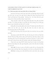 GIẢI PHÁP TĂNG CƯỜNG QUẢN LÝ RỦI RO TRONG ĐẦU TƯ CHỨNG KHOÁN TẠI PVFC