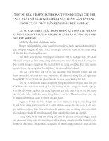 MỘT SỐ GIẢI PHÁP NHẰM HOÀN THIỆN KẾ TOÁN CHI PHÍ SẢN XUẤT VÀ TÍNH GIÁ THÀNH SẢN PHẨM XÂY LẮP TẠI CÔNG TY CỔ PHẦN XÂY DỰNG DẦU KHÍ NGHỆ AN