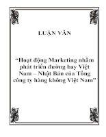 """Đề tài """"Hoạt động Marketing nhằm phát triển đường bay Việt Nam – Nhật Bản của Tổng công ty hàng không Việt Nam"""""""