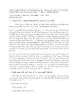 THỰC TRẠNG VỀ HUY ĐỘNG VỐN TRUNG VÀ DÀI HẠN QUA PHÁT HÀNH TRÁI PHIẾU TẠI NGÂN HÀNG ĐẦU TƯ   PHÁT   TRIỂN HÀ NỘI