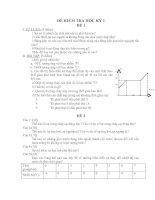 Tài liệu Đề kiểm tra học kỳ 1 Vật lý 6
