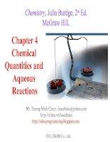 Bài soạn Chapter 4 Chemical Quantities and Aqueous Reactions