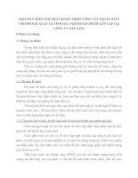 MỘT SỐ Ý KIẾN GÓP PHẦN HOÀN THIỆN CÔNG TÁC HẠCH TOÁN CHI PHÍ SẢN XUẤT VÀ TÍNH GIÁ THÀNH SẢN PHẨM XÂY LẮP TẠI CÔNG TY XÂY LẮP I