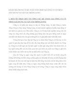ĐÁNH GIÁ CHUNG VỀ KẾ TOÁN TỔNG HỢP TẠI CÔNG TY CỔ PHẦN XÂY DỰNG VÀ VẬN TẢI THĂNG LONG